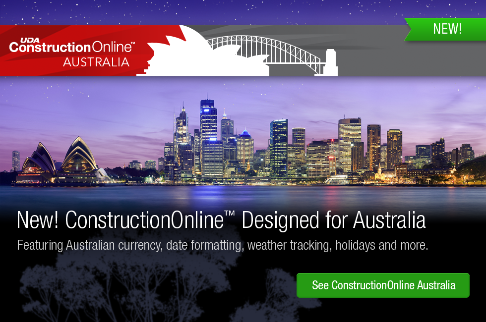 UDA ConstructionOnline - The Future of Construction Software