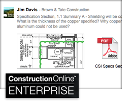 New ConstructionOnline RFI Tracking